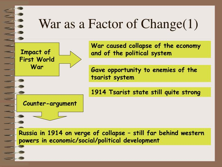War as a Factor of Change(1)