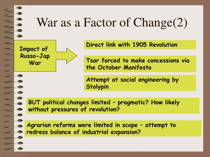 War as a Factor of Change(2)