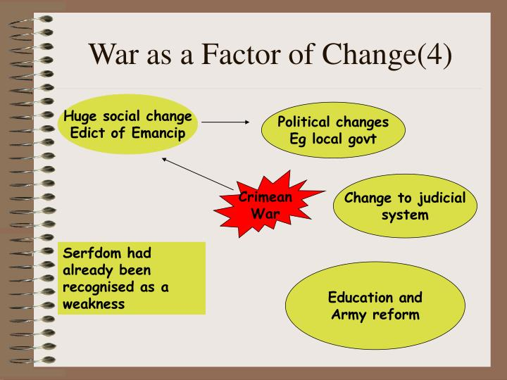 War as a Factor of Change(4)