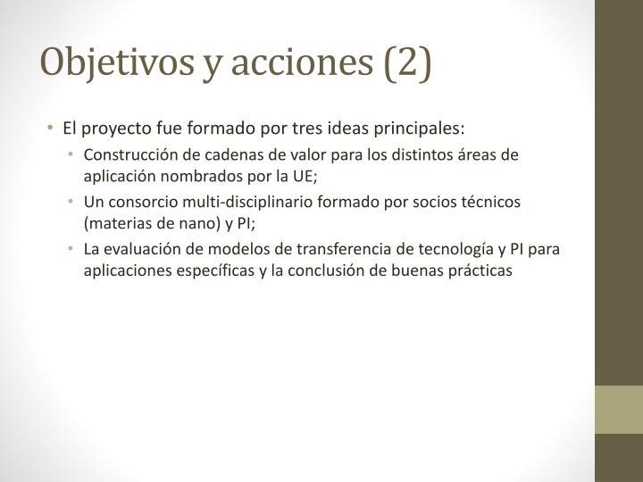 Objetivos y acciones (2)