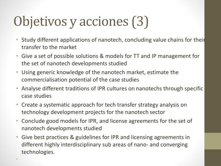 Objetivos y acciones (3)