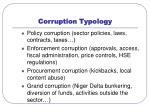 corruption typology
