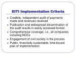 eiti implementation criteria
