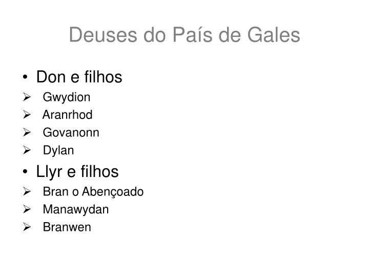 Deuses do País de Gales