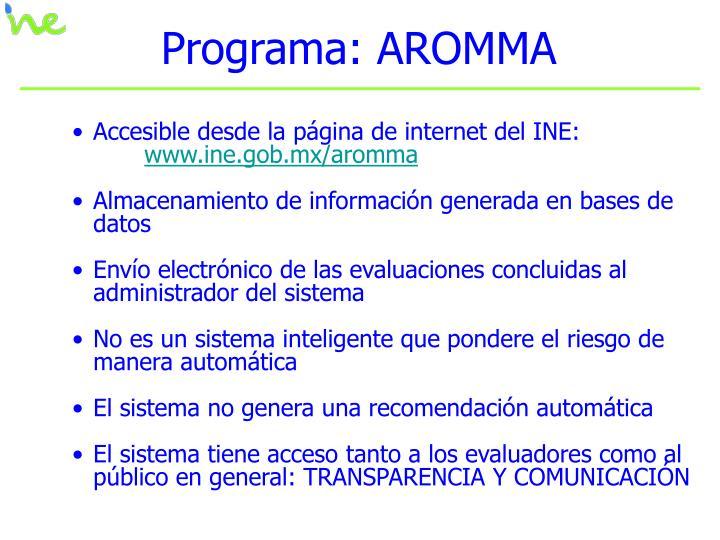 Programa: AROMMA