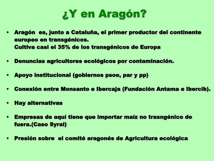 ¿Y en Aragón?
