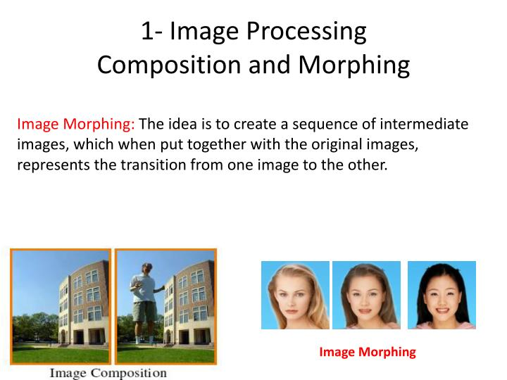 1- Image Processing