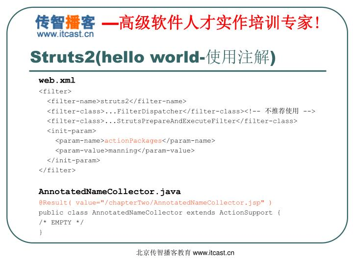 Struts2(hello world-