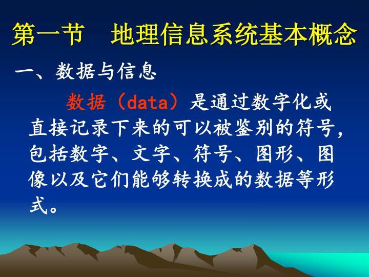第一节  地理信息系统基本概念