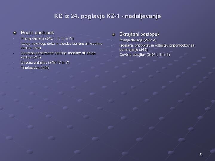 KD iz 24. poglavja KZ-1