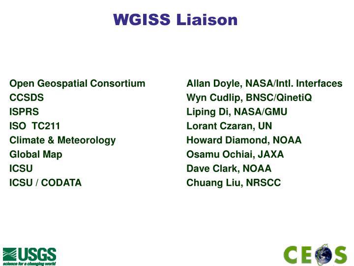 WGISS Liaison