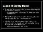 class iii safety rules2
