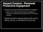 hazard control personal protective equipment2