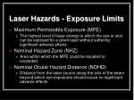 laser hazards exposure limits