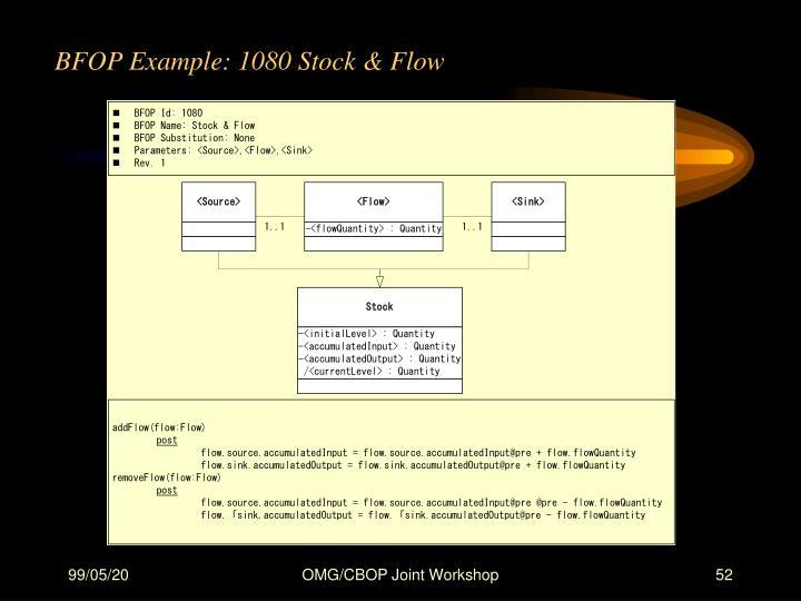 BFOP Example: 1080 Stock & Flow