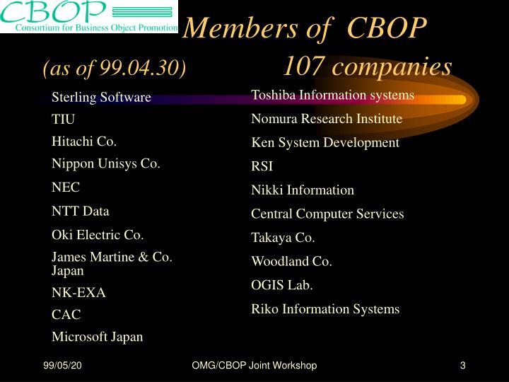 Members of  CBOP