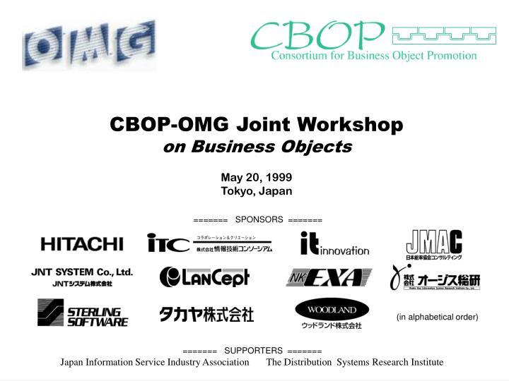 CBOP-OMG Joint Workshop