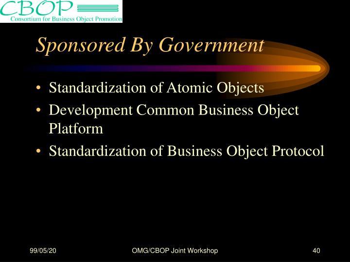 Standardization of Atomic Objects