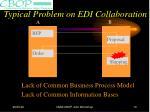 typical problem on edi collaboration