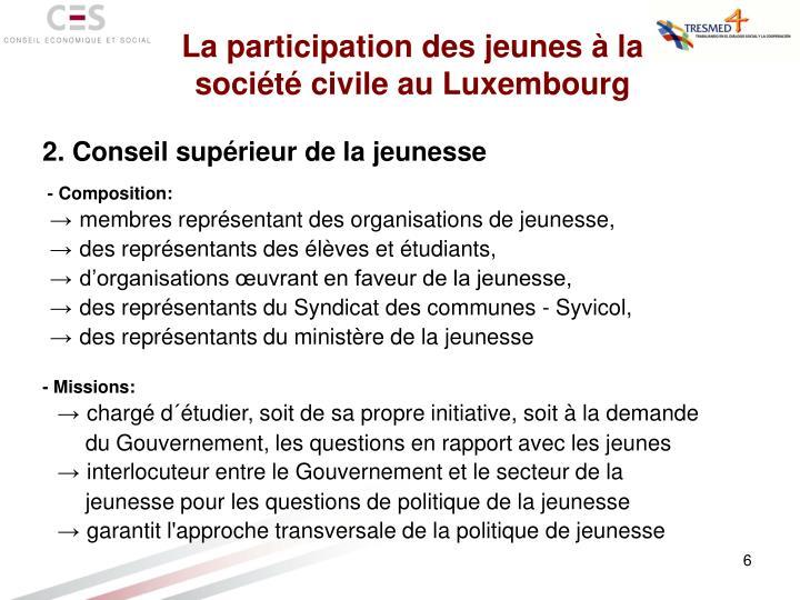 La participation des jeunes à la société civile au Luxembourg
