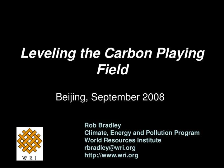 Leveling the carbon playing field
