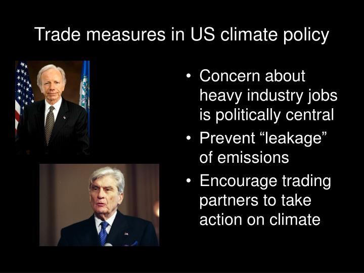 Trade measures in us climate policy
