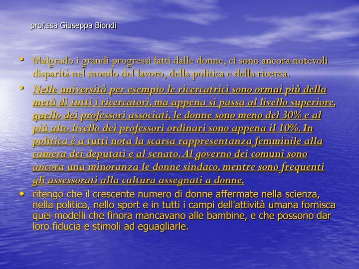 prof.ssa Giuseppa Biondi