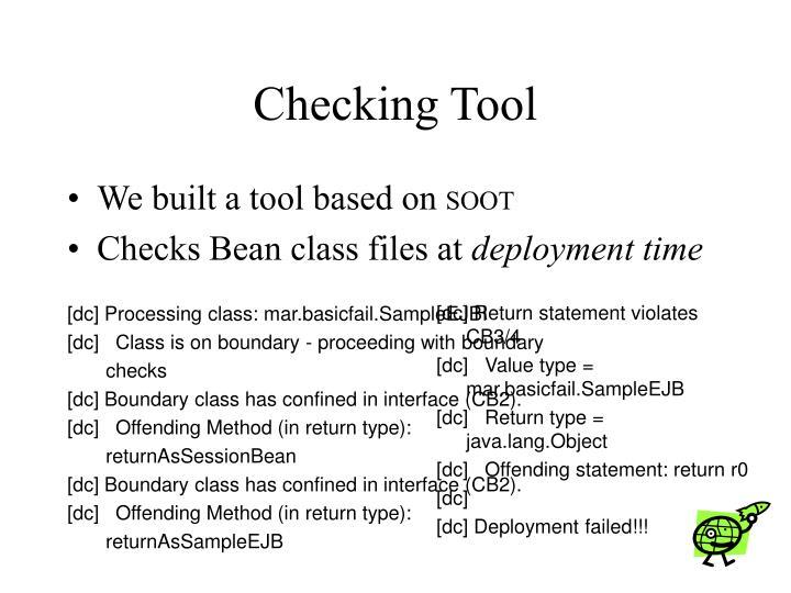 Checking Tool
