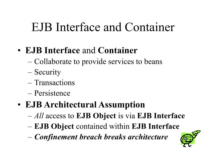 EJB Interface and Container