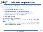 heasarc responsibilities