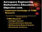 aerospace engineering mathematics education objective cont