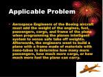 applicable problem