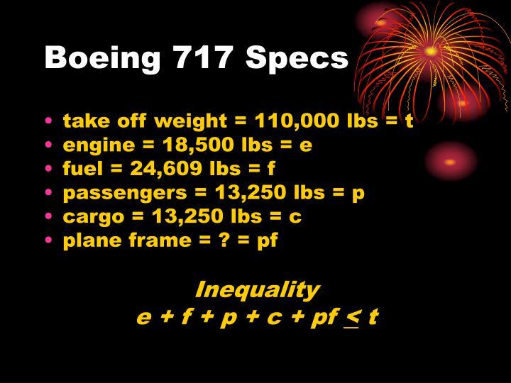 Boeing 717 Specs