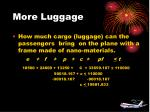 more luggage