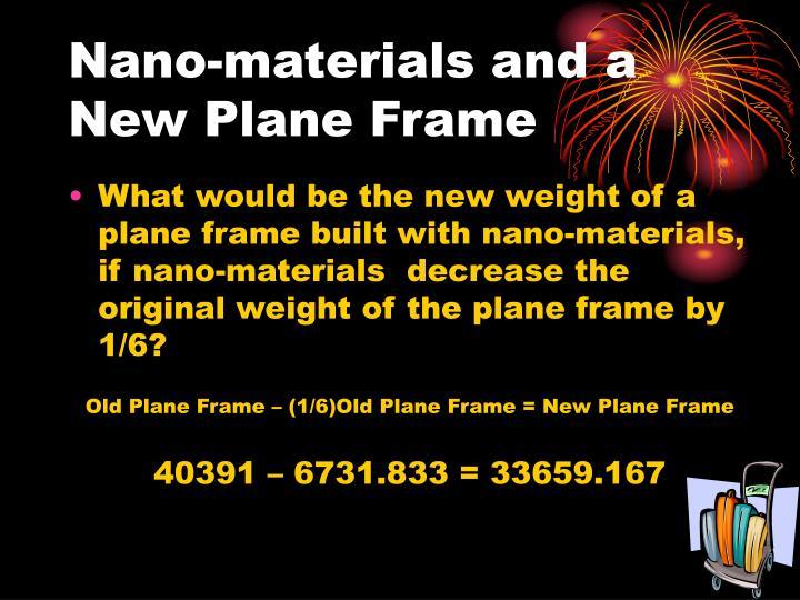 Nano-materials and a New Plane Frame