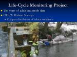 life cycle monitoring project