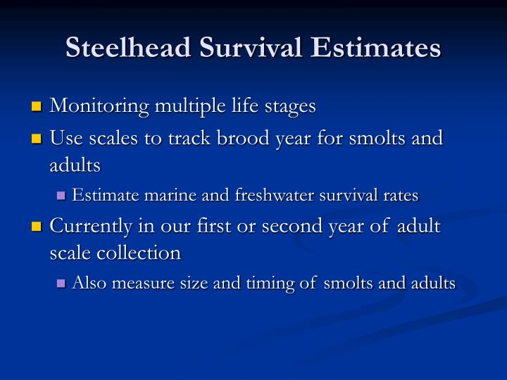 Steelhead Survival Estimates