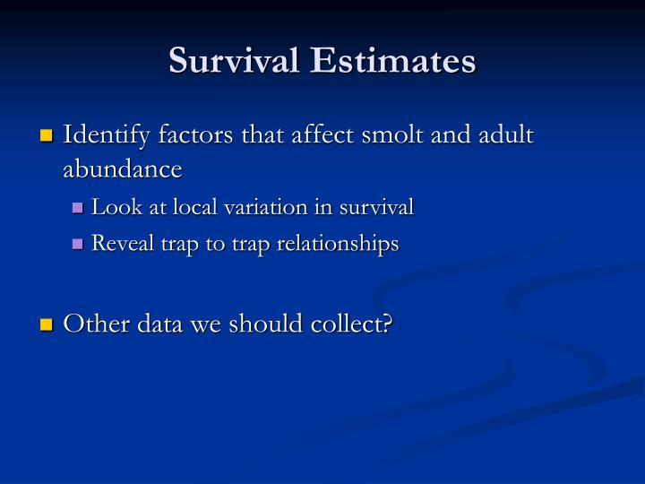Survival Estimates