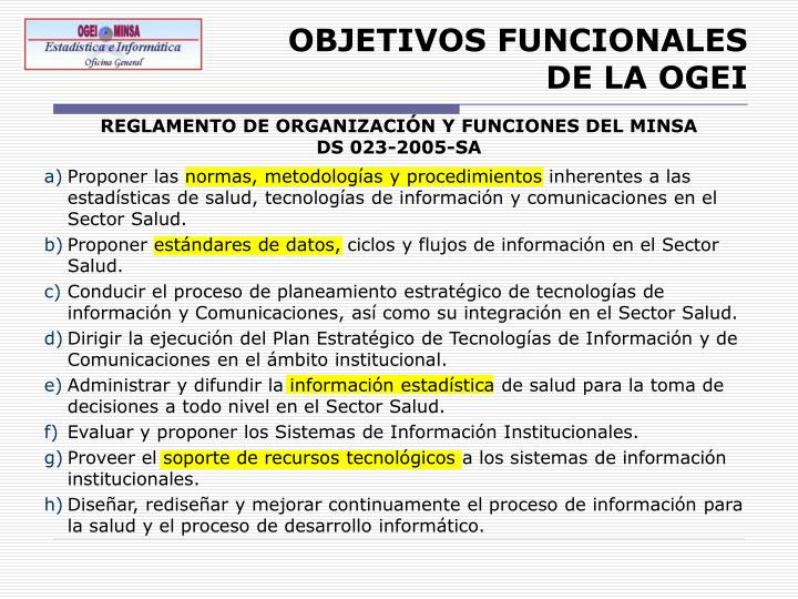 OBJETIVOS FUNCIONALES