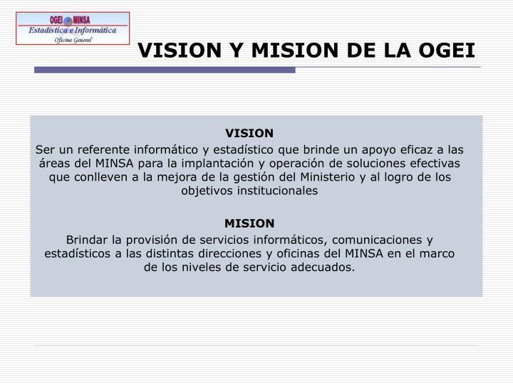 VISION Y MISION DE LA OGEI