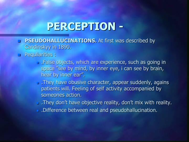 PERCEPTION -