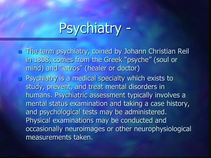 Psychiatry -