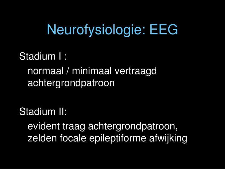Neurofysiologie: EEG