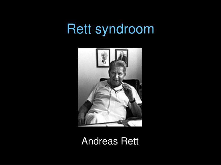 Rett syndroom