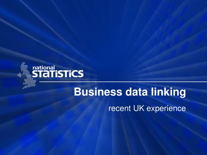 Business data linking