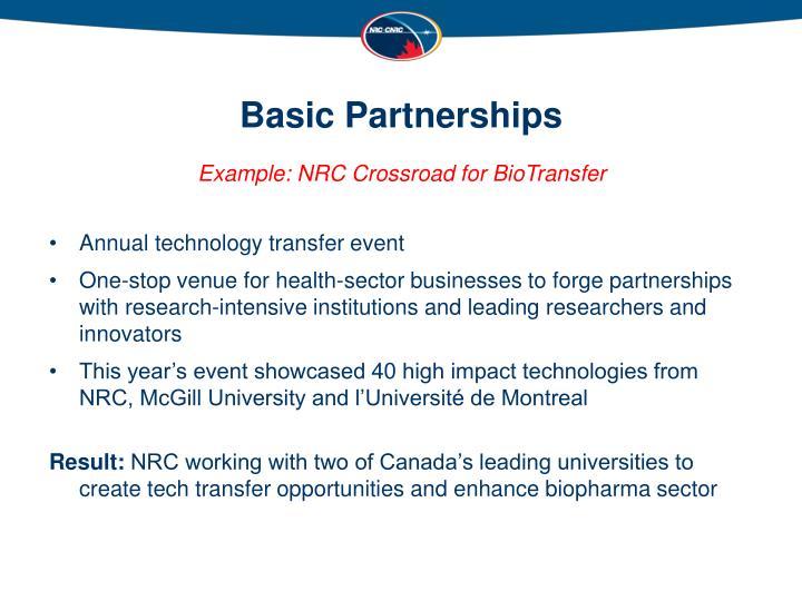 Basic Partnerships