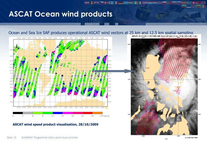 ASCAT Ocean wind products