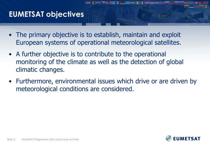 EUMETSAT objectives