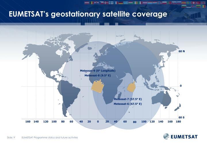 EUMETSAT's geostationary satellite coverage