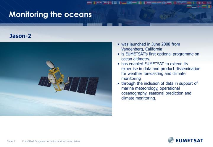 Monitoring the oceans